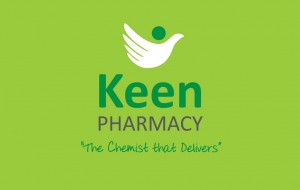 Keen Pharmacy Logo out of green background