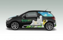 Picture of graphics wrap on Originem car