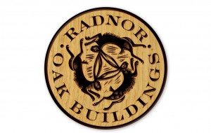 Radnor Oak Buildings brand using 3 hares motif