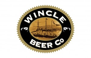 Wincle Beer Company Logo ellipse with picture of Shackleton's ship the nimrod