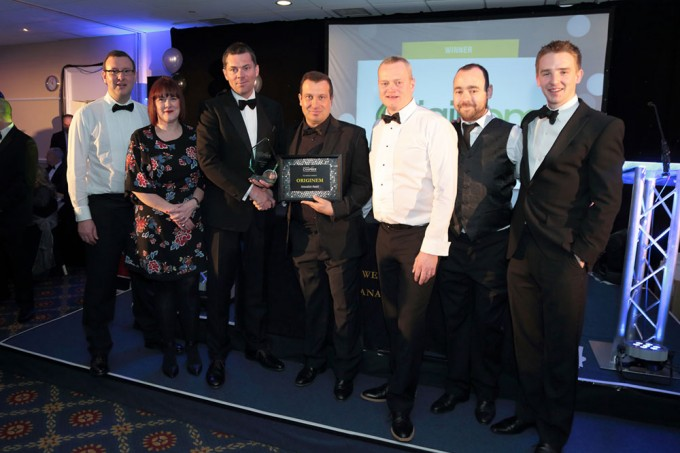 Original winning the East Cheshire Chamber awards for Innovation