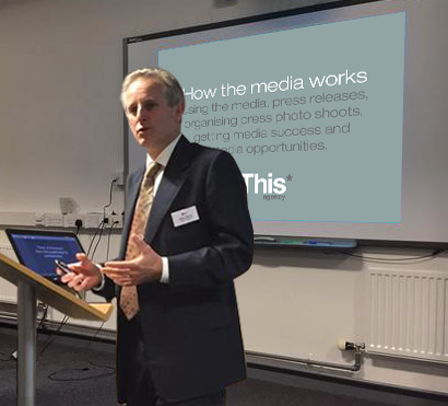 Picture of This agency's Oliver Mason presenting at Staffordshire Chamber of Commerce event