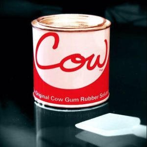 Picture of a tin of cow gum